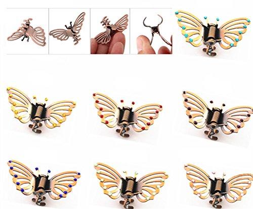 4 Stücke Kristall Straß Haarklammer Haarclip Schmetterling Stil Haargreifer