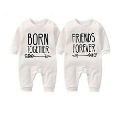 culbutomind Baby Zwillinge Kleidung Neugeborenes S/äugling Baby Junge M/ädchen Strampler Lustige Jumpsuit Neugeborene Unisex Outfit