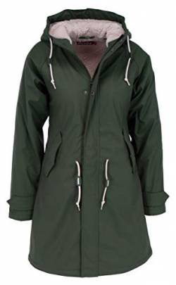 derbe Damen Übergangsjacke Travel Cozy Friese RC Oliv 44 (XXL) von derbe