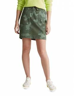 edc by ESPRIT Damen 030CC1D314 Rock, 350/KHAKI Green, 34 von edc by ESPRIT
