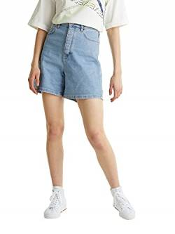 edc by ESPRIT Damen 040CC1C303 Jeans-Shorts, 903/BLUE Light WASH, 31 von edc by ESPRIT