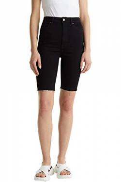 edc by ESPRIT Damen 040CC1C304 Jeans-Shorts, 910/BLACK Rinse, 26 von edc by ESPRIT