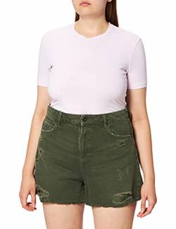 edc by ESPRIT Damen 050CC1C312 Shorts, 350/KHAKI Green, 38 von edc by ESPRIT