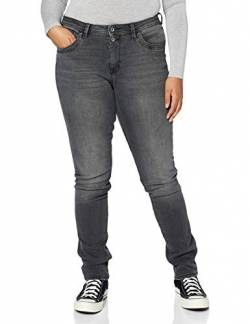 edc by ESPRIT Damen 2-Knopf Jeans, 912/Black Medium Wash, 27W / 30L von edc by ESPRIT