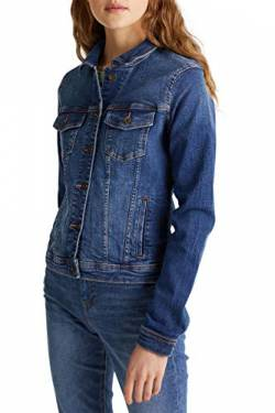 edc by ESPRIT Damen 999CC1G802 Jacke, 902/BLUE MEDIUM WASH, XS von edc by ESPRIT