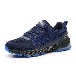 Sumateng Laufschuhe Herren Damen Sporttrainer Luftstoßdämpfung Sportschuhe Walkingschuhe Joggen Athletic Fitness Outdoor DarkBlue43 von Sumateng