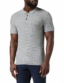 Amazon-Marke: find. Herren Poloshirt, Grau (Grau Spacedye (B1by08), XL, Label: XL von find.