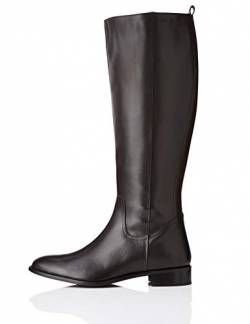 find. Flat Knee Length Leather Hohe Stiefel, Braun Brown), 36 EU von find.