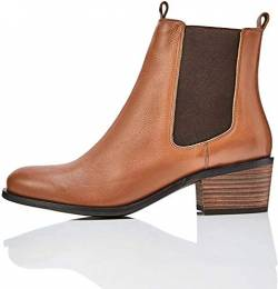 find. Mid Heeled Leather Chelsea Boots, Braun Brandy), 38 EU von find.