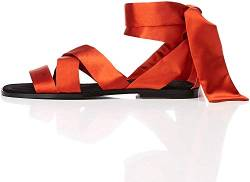 find. Satin Tie Up Peeptoe Sandalen, Braun Rust), 37 EU von find.