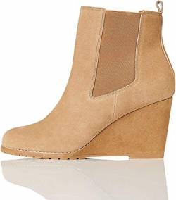 find. Wedge Chelsea Stiefeletten, Dark Beige), 37 EU von find.