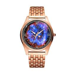 Minimalistische Goldene Fashion Quarz-Armbanduhr Elite Ultra Dünn wasserdichte Sportuhr Artistic Pattern - 098.NASA-SNR0519690-ChandraXRayObservatory von girlsight1