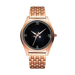 Minimalistische Goldene Fashion Quarz-Armbanduhr Elite Ultra Dünn wasserdichte Sportuhr künstlerisches Muster -080 Fornax Zwerggalaxy (1) von girlsight1