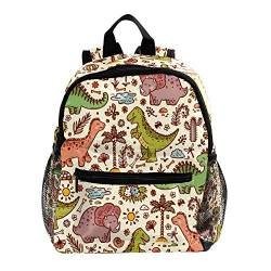 Rucksack für Mädchen Kinder Schultasche Kinder Büchertasche Frauen Casual Tagesrucksack Cartoon Tier Cartoon Dinosaurier 25.4x10x30 CM/10x4x12 in von henghenghaha