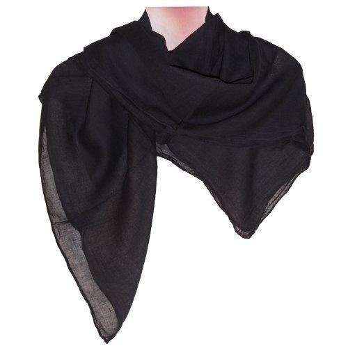 Halstücher hellgrün 10er Pack Baumwolle einfarbig Tuch uni Accessoire