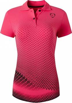 jeansian Women's Sports Breathable Quick Dry Short Sleeve Tennis Golf Bowling Polo T-Shirts Tee SWT251 Rosered XL von jeansian
