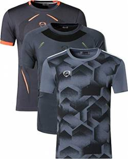 jeansian Herren 3 Packs Sport Slim Quick Dry Short Sleeves Compression T-Shirt Tee LSL187_204_3225 Gray S von jeansian