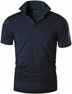 jeansian Herren Summer Sportswear Wicking Breathable Short Sleeve Quick Dry Polo T-Shirts Tops LSL195 Gray M von jeansian