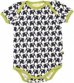 Loud + Proud Unisex - Baby Body 201, Gr. 62/68, Blau (Marine) von loud + proud