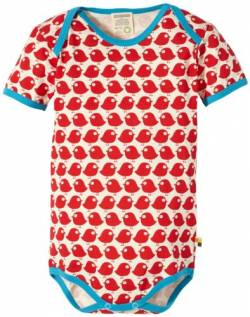 Loud + Proud Unisex - Baby Body 201, Gr. 86/92, Rot (tomato) von loud + proud