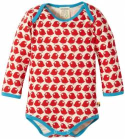 Loud + Proud Unisex - Baby Body 202, Gr. 62/68, Rot (tomato) von loud + proud
