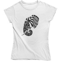 mamino Damen T Shirt -Elephant ornate ornament T-Shirts weiß Damen Gr. 40 von mamino
