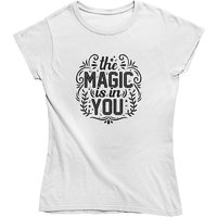 mamino Damen T Shirt -Magic in you T-Shirts weiß Damen Gr. 34 von mamino
