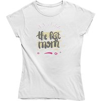 mamino Damen T Shirt -The best mom T-Shirts weiß Damen Gr. 40 von mamino