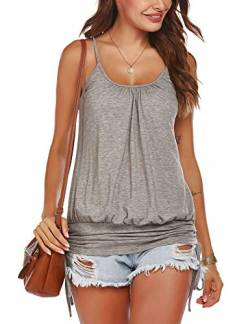 Meaneor Tank Top Damen Sommer Locker Shirt Spaghettiträger Tops Ärmellos Loose Fit von mea eor