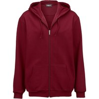 Sweatjacke mit Kapuze Men Plus Bordeaux von men plus