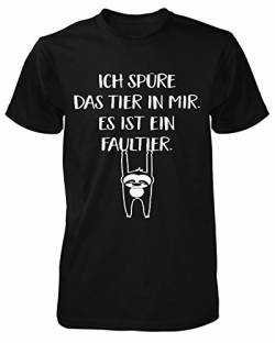 Ich spüre das Tier in Mir es ist EIN Faultier T-Shirt | Sprüche | Lustig | Fun Shirt | Nerd | Spaß Tshirt | Montags-Shirt | Chill | Statement | Morgenmuffel | Männer Fun Shirt von mycultshirt