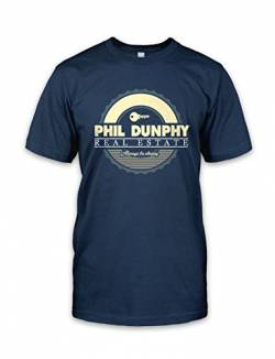 net-shirts Real Estate T-Shirt Phil Dunphy T-Shirt Inspired by Modern Family, Größe L, Navy von net-shirts