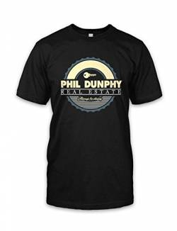 net-shirts Real Estate T-Shirt Phil Dunphy T-Shirt Inspired by Modern Family, Größe L, Schwarz von net-shirts