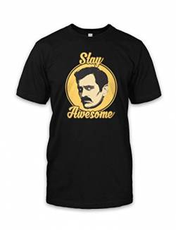 net-shirts Stay Awesome T-Shirt Phil Dunphy T-Shirt Inspired by Modern Family, Größe S, Schwarz von net-shirts