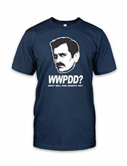 net-shirts WWPDD T-Shirt Phil Dunphy T-Shirt Inspired by Modern Family, Größe L, Navy von net-shirts