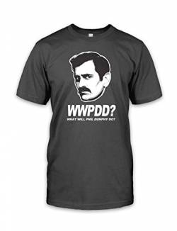 net-shirts WWPDD T-Shirt Phil Dunphy T-Shirt Inspired by Modern Family, Größe M, Graphit von net-shirts