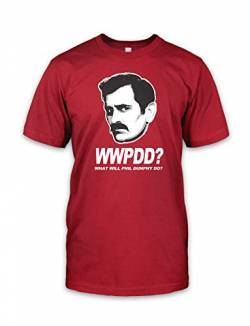 net-shirts WWPDD T-Shirt Phil Dunphy T-Shirt Inspired by Modern Family, Größe M, rot von net-shirts