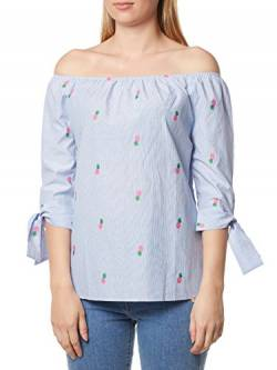 rich&royal Damen Blouse Off-Shoulder Bluse, Blau (Light Blue 723), 40 von rich&royal