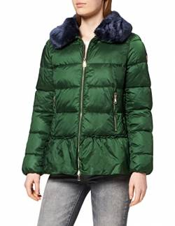 rich&royal Damen Jacket with Volant Jacke, Grün (Forest Green 475), 38 von rich&royal