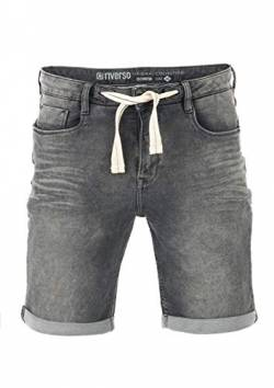 riverso Herren Jeans Shorts RIVPaul Kurze Hose Sommer Bermuda Stretch Denim Short Sweathose Baumwolle Grau Blau Dunkelblau w30 - w42, Größe:W 36, Farbe:Grey Denim (G37) von riverso