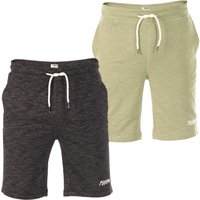 riverso Herren Sweat Short RIVMike Kurze Bermuda Sommer Shorts 2er Pack von riverso