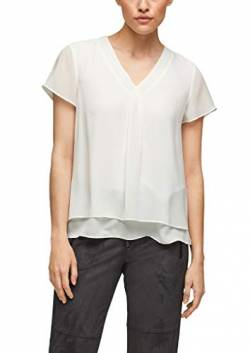 s.Oliver BLACK LABEL Damen Layering-Bluse aus Chiffon soft white 34 von s.Oliver BLACK LABEL