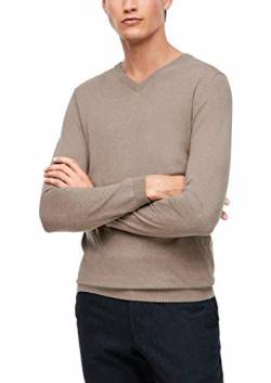 s.Oliver BLACK LABEL Herren V-Neck-Pullover mit Kaschmir Brown S von s.Oliver BLACK LABEL