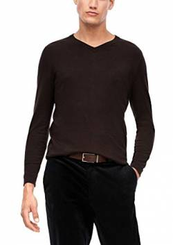 s.Oliver BLACK LABEL Herren V-Neck-Pullover mit Kaschmir Dark Grey M von s.Oliver BLACK LABEL