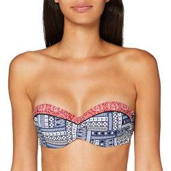 s.Oliver RED LABEL Beachwear LM Damen Cocina Bikini, blau-rot Bedruckt, 38 A von s.Oliver RED LABEL Beachwear LM