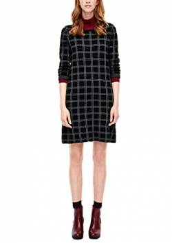s.Oliver RED Label Damen Jacquardkleid mit Glitzergarn Black Check 34 von s.Oliver