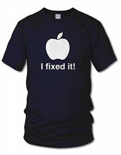 shirtloge - I Fixed IT! - Kult - Fun T-Shirt - Navy (Weiß) - Größe XL von shirtloge