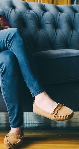 Rieker M1390 14 Ladies Slip On Blue combination ankle boots