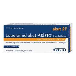 Loperamid akut Aristo 2 mg Tabletten von Loperamid